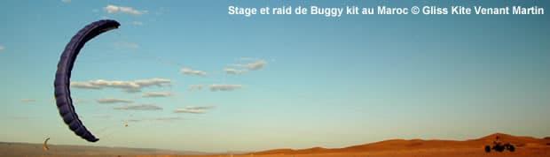 Kitebuggy : stage buggy raid au Maroc