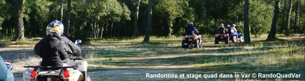Randonnée, location et stage quad dans le Var avec Rando Quad Var
