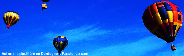 Bapteme de montgolfiere en Dordogne : 3 montgolfieres