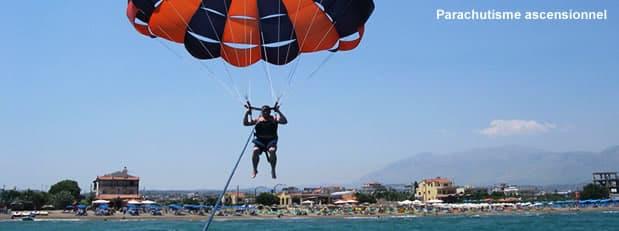 Parachute ascensionnel nautique à Nice