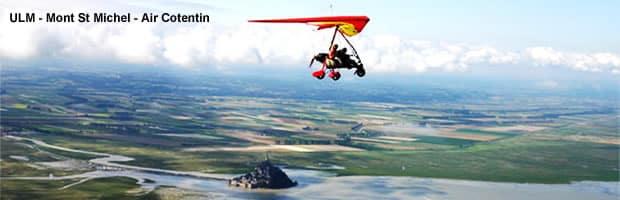 Vol en ULM au dessus du Mont St Michel avec ULM Air Cotentin