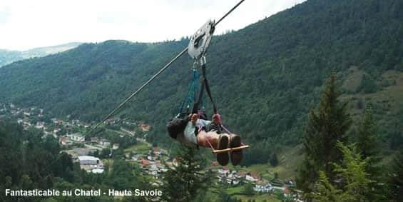 Fantasticable Haute Savoie : descente en tyrolienne à 100km/h