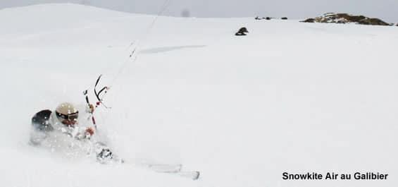 Ecole et stage snowkite au Col du Lautaret avec Snowkite Air