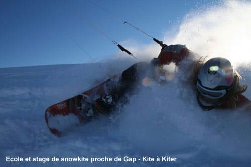 Ecole et stage snowkite proche de Gap – Kite a Kiter