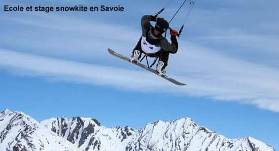 Ecole et stage de snowkite avec Flymontain Savoie