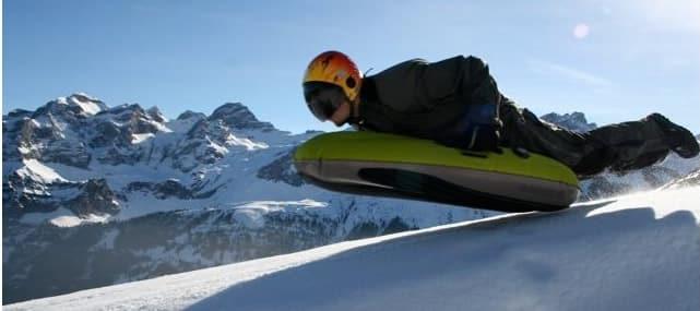 L'airboard : bodyboard des neiges