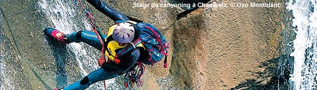 Stage et sortie de canyoning à Chamonix