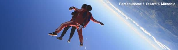 tandem de parachutisme et chute libre