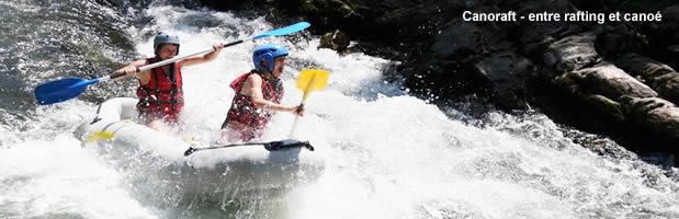 canoraft : sport en eaux vives, canoe rafting biplace