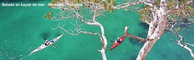 Kayak de mer à Marseille avec Yakaramer Marseille