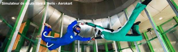 simulateur chute libre : bapteme avec moniteur à Paris