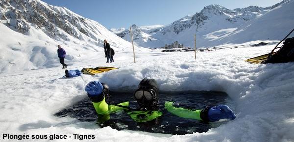 Bapteme de plongée sous glace à Tignes