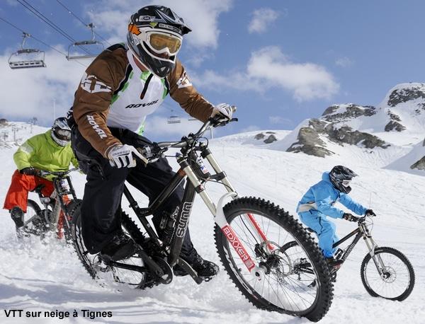 VTT sur neige à Tignes