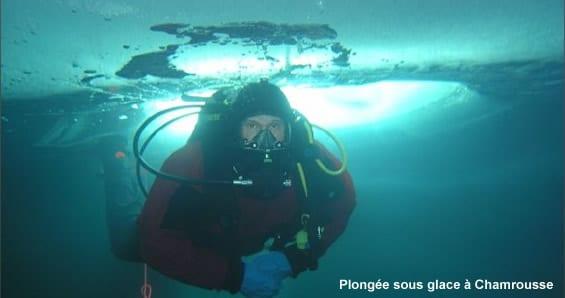 Baptême de plongée sous glace à Chamrousse