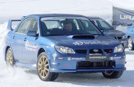 Stage pilotage sur glace à Tignes, stage pilotage sur Subaru