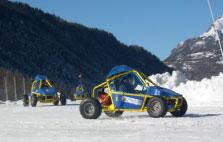Pilotage sur glace, kart cross avec Ice Racing à Orcières 1850