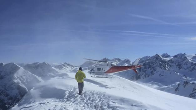 Heliski : dépose en hélicoptère ski et snowboard hors piste