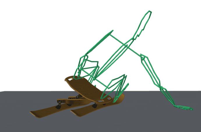 E-Sledge : luge en bois et composite sur balancier
